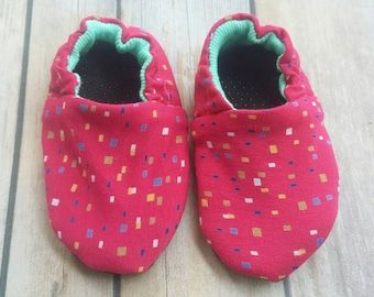 Baby & Toddler Shoes. Confetti. Reversible Soft Sole.