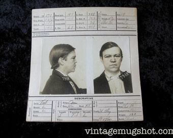 Mugshot Drug Addict San Francisco Police Department 19 Year Old Burglar  Crime Early 1900's Waiter