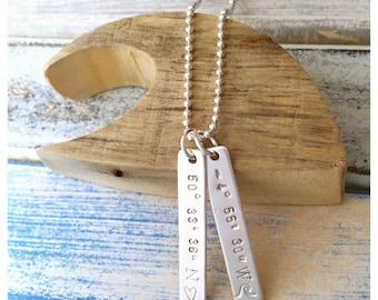 Keepsake DogTags - handstamped sterling silver necklace