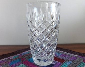 Vintage, Cut, Lead Crystal, Vase