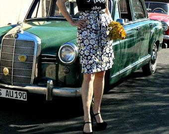 Bridesmaid Dress Short-Bridesmaid Dress-Short Bridesmaid Dress-Custom Tank Style-Wear Again Bridesmaid-Festive Daisy Floral-No Measurements