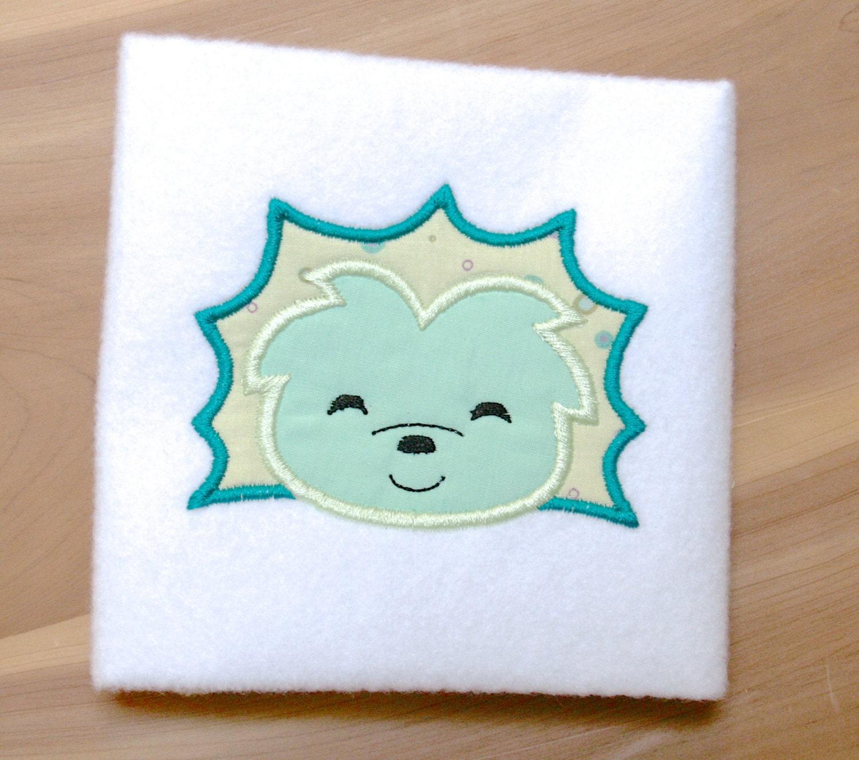 Igel Gesicht Applique Maschine Stickerei Entwurfsmuster Download 4 x ...