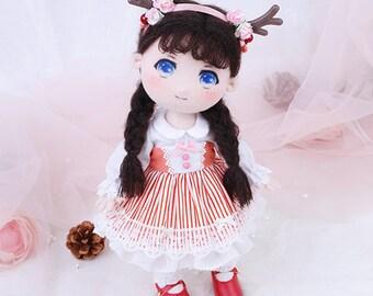 DIY Kit Mori Girl Bella / Fabric Doll / Textile Doll