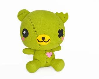 BIG ZomBear plushie , zombie bear kawaii plush toy