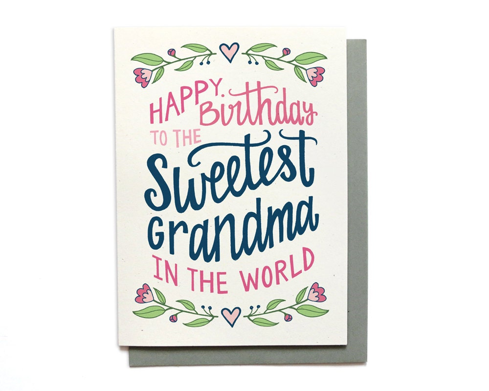 Grandma birthday card sweetest grandma in the world zoom bookmarktalkfo Image collections