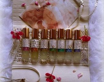 Seven chakra anointing oil embodiment kit vibrational product