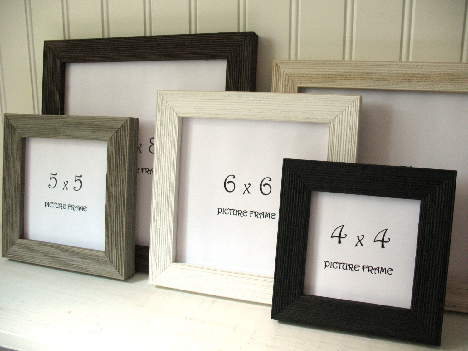 SQUARE Barnwood FRAME Black White Rust Brown Grey Cream Instagram ...