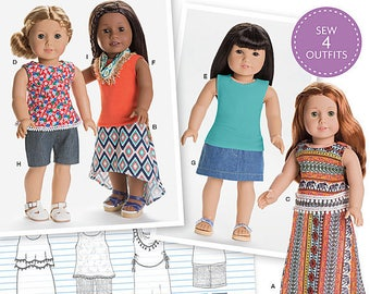 Simplicity 8040 American Girl Doll Clothes Home sewing pattern New Uncut