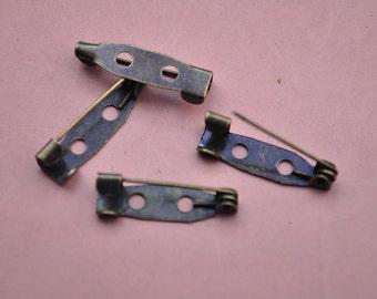 bronze Safe pin,50pcs antique bronze metal bar pin back brooch,hair pin,hair clip,safety pin