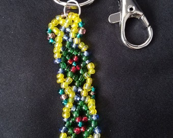 seed bead key chain