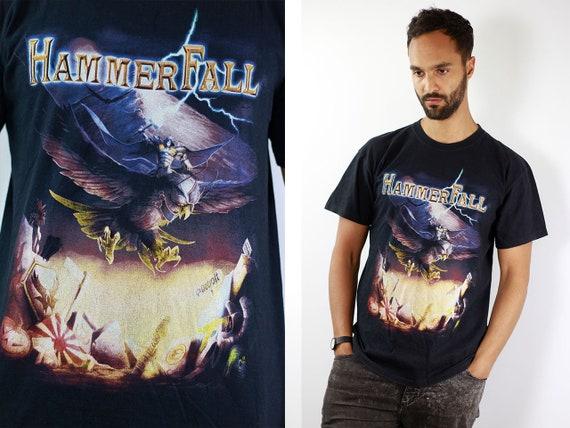 Vintage T-Shirt Oversized T-Shirt Vintage 80s T-Shirt Black T-Shirt Hammerfall T-Shirt Black T-Shirt Oversize 90s T-Shirt