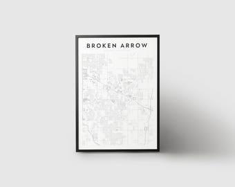 Broken Arrow Map Print