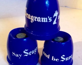 BOTTLE Stopper Seagrams 7 Whiskey Mechanical Beverage Bottle Stoppers Three  Bar Ware