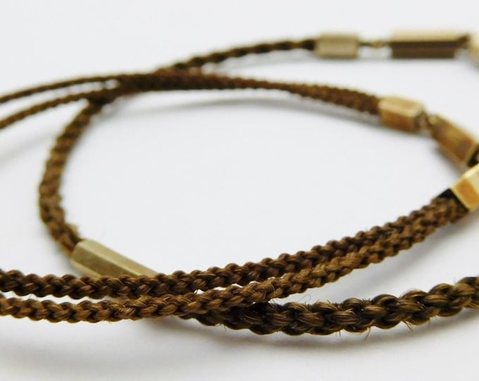 2 ~ Solid 10K Yellow Gold....Ladies Woven Hair Jewelry Bracelets.. (100% AUTHENTIC)