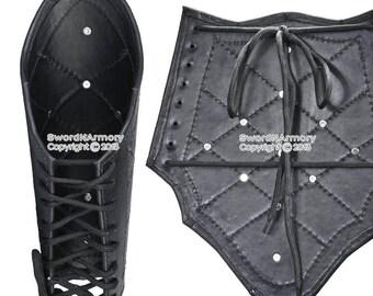 Genuine Leather Studded Medieval Bracer Pair Gauntlet Arm Guard