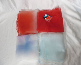 Vintage 1950s 1960s Scarf Nylon Sheer Rockabilly 50s 60s YOU Pick Color Pinup Beach VLV Ombre