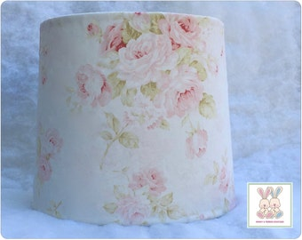 Pink lampshade etsy shabby cottage chic floral baby nursery lampshade pink floral lampshade cottage chic lampshade mozeypictures Gallery