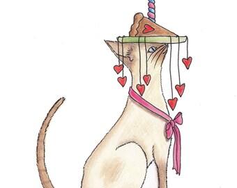 Love Right Meow-Original Artwork Print