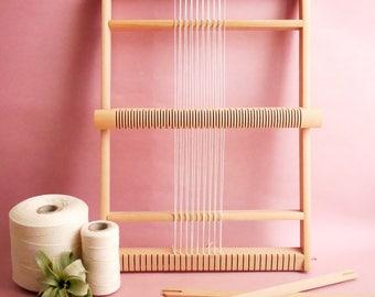 XL Weaving Loom Ø 50 cm,  Tapestry weaving, Gobelin Weaving Frame, Extra Large Weaving Loom, Frame Lap Loom, Heddle Bar Loom