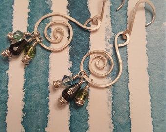 Sterling Silver, Swarovski Crystals, & Glass Beads