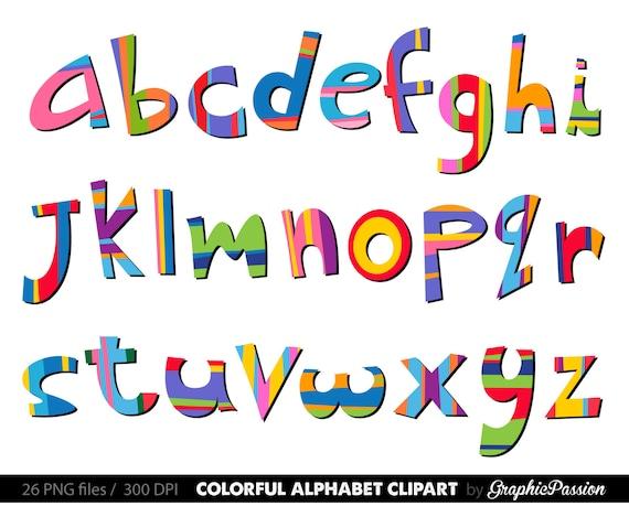 scrapbooking alphabet clipart color alphabet digital alphabet rh etsystudio com clip art alphabet letters free clipart alphabet letters