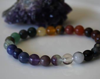Chakra Bracelet, 7 Chakra Jewelry, 10 CHAKRA BALANCING, Yoga Jewelry, Healing Jewelry