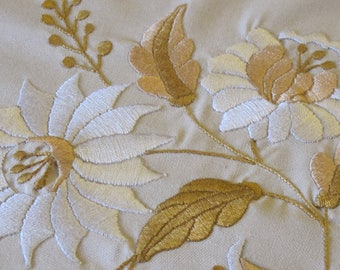Entirely hand made embroidered tablecloth
