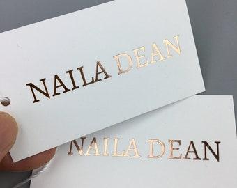 500 gold foil custom  hang tags, custom hang tags, custom  gold foil black card hang tag, Custom Black Card Hang Tags