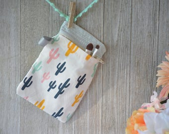 Mason Jar Bag, Mason jar Zipper Bag, cactus,  Make Up bag, Pencil Case, Mason Jar