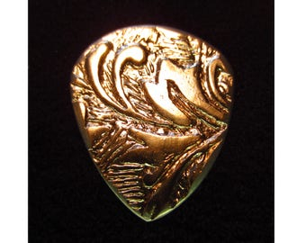 Antique German Nickel Silver Guitar Pick - Jazz 2mm Heavy - Free Shipping with Extra Gifts Included