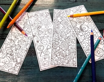 DIGITAL DOWNLOAD, Breakfast Coloring Bookmarks pdf, Bridal Shower Favors, Coloring Pages, Brunch Baby Shower Favors, Easter Basket Stuffer