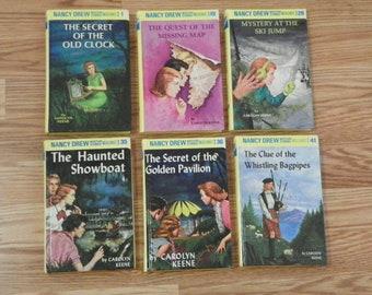 6 Nancy Drew books by Carolyn Keene