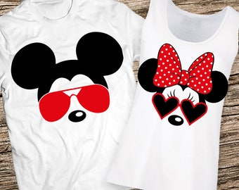Disney Couples Shirts, Disney Couple Shirts, Mickey and Minnie Couple shirts, Matching Couple Disney Shirts, Couples Disney Personalized