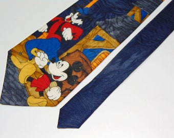 Vintage disney tie mickey mouse goofy Necktie men's