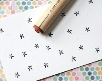 Solid Star Rubber Stamp