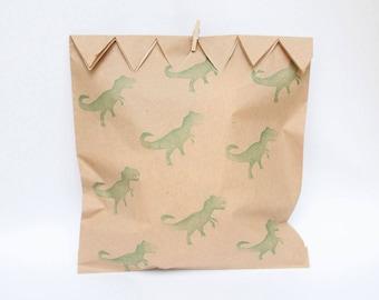 DINOSAUR  FAVOUR BAGS, dinosaur party bags, paper dinosaur party favour bags x 10