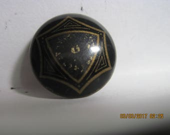 ANTIQUE RARE Victorian Era Celluloid Tight Top Button Rare Faux Guilloche Enameled Center....#1481