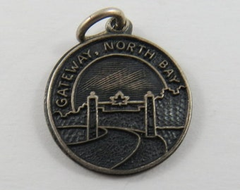 Gateway North Bay Canada Sterling Silver Charm or Pendant.
