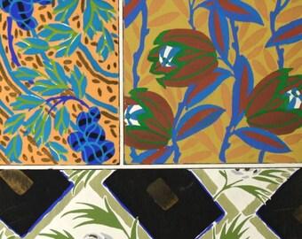 Seguy Art Deco Print Vintage Botanical Print c. 1926 12 3/4 x 17 3/4 inches