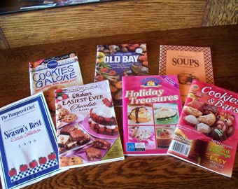 7 Advertising Cookbooks: Soft Cover Booklets