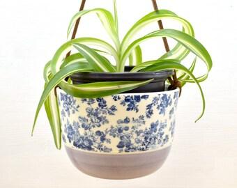 Hanging planter - medium - lilac