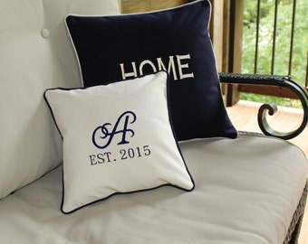 Monogrammed Pillow Covers