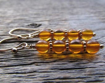 Baltic Amber Earrings, Amber Gold Earrings, Natural Amber Earrings, Amber Drop Earrings, Amber Dangle Earrings, Amber Earrings, Amber Gift