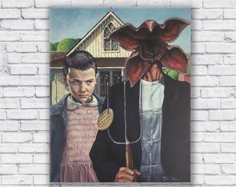 Stranger Things // American Gothic Canvas Print
