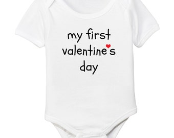 My First Valentine's Organic Cotton Baby Bodysuit