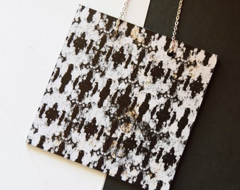 Contemporary statement necklace, Wooden necklace, Jewellery handmade, Minimalist, Simple unusual laser cut geometric Jewellery