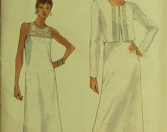 Jacket & Dress, Lace Insets -  1990's - Vogue Pattern 9793   Uncut   Sizes 8-10-12  Bust 31.5 - 32.5 - 34""