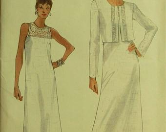 """Jacket & Dress, Lace Insets -  1990's - Vogue Pattern 9793   Uncut   Sizes 8-10-12  Bust 31.5 - 32.5 - 34"""""""