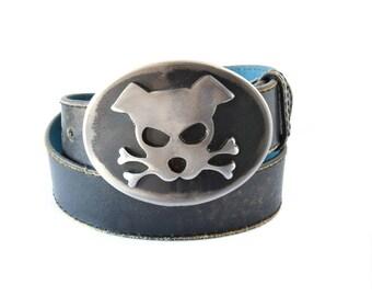 Dog Belt Buckle / Outlaw Doggy / Metal Belt Buckle/ Men's Belt Buckle/ Women's Belt Buckle/ Gift for Dog Lovers /Big Belt Buckle /Bandit Dog