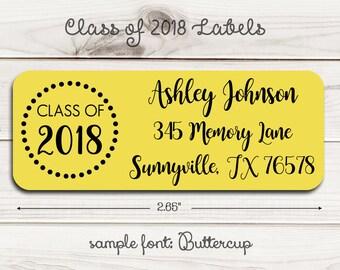 Class of 2018 Return Address Labels